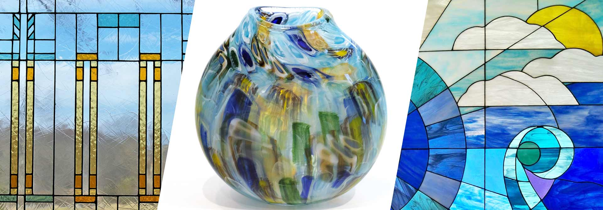 Stained Glass Panels, Hand Blown Glass Products